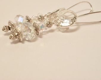 Sterling Silver Earrings, Sparkly Earrings