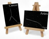 Zodiac Family Set of 2 Astrology Custom Paper Cuttings