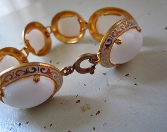 1970's elegant white stone bracelet