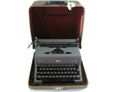 Royal Arrow Typewriter With Case 1940s - RESERVED for Ocean