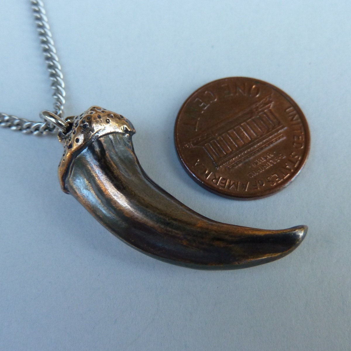 wolf claw necklace bronze claw by thepewterwolf on etsy