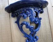 "Shelf ornate vintage deep blue ""Deep Blue Something"""
