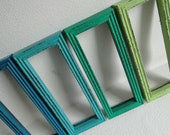 """Frame mirror set collection gallery wall distressed teal turquoise blue green Laguna III"""""""