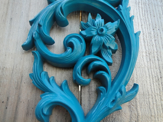 "Candle Sconce double taper candle holder teal turquoise ""The Original Blue Lagoon"""
