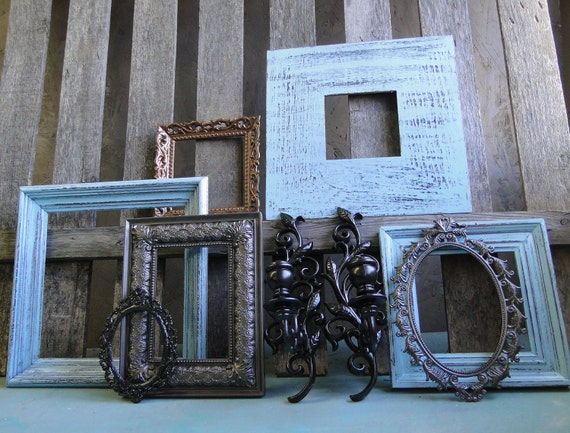 Frame Set Collection Gallery Wall Open Frames Aqua By