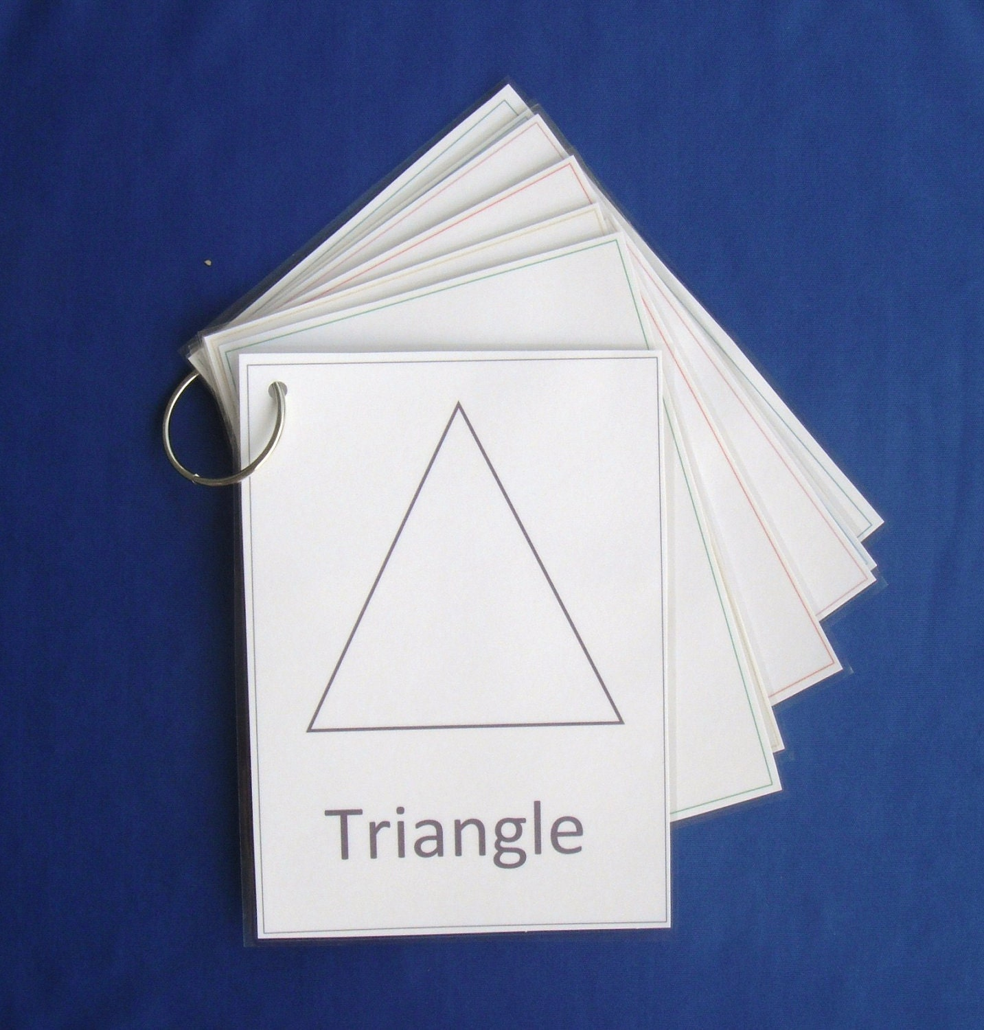 Large Shape Flash Cards Laminated And Complete By