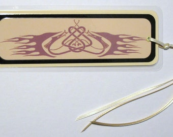 Flaming Celtic Dragon Laminated Bookmark