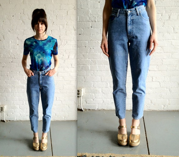 Vtg 90s High Waisted, Denim Blue Jeans