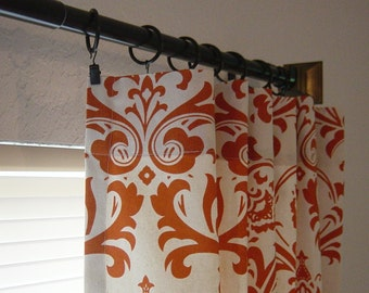 sweet potato natural beige traditions damask curtains 63 72 84 90 96 108 or 120 long