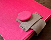 Hot Pink, Up-cycled Customizable Sketchbook or Journal