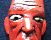 Miniature Mask of Man in Red