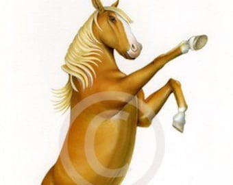 Horse art print by Fiammetta Dogi 8x10