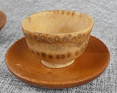 Set of 2pcs cup - Old bamboo root  (Without the tray or accessory)