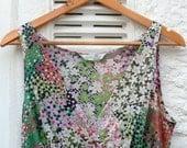 Isle of Tea Vintage 70s Summer Maxi Dress Sz UK 10 12