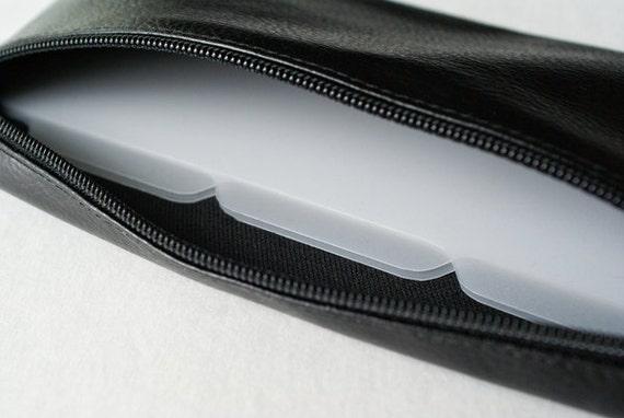 RESERVED FOR ELISA - Men's cash envelope system budget wallet with 6 tabbed dividers // black textured