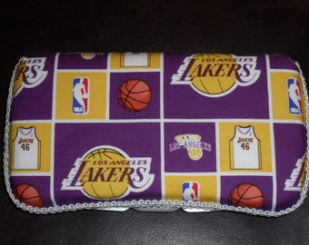 Purple and Gold LA Lakers Sports Baby Wipes Case