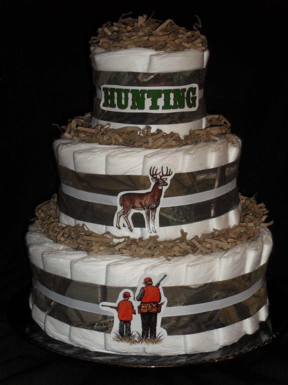 Hunting Camo Theme Diapercake