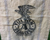 RESERVED for Jan...Feedsack Fulton ..Seamless ..Extra Heavy ..Great Eagle Logo.....Price is for both