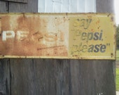 ADVERTISING SIGN Pepsi Vintage Still Attached to Old  Tobacco Barn in South Carolina Farmland  Advertising Sign
