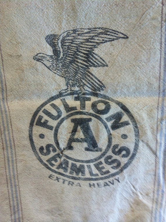 Feed Sack Fulton Seamless Extra Heavy with American Eagle Logo