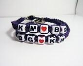 Purple Couples Hemp Bracelets