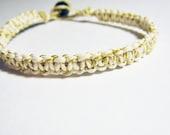 Gold Sparkle Hemp Bracelet
