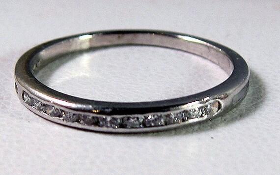 HOLDING for kalyanyo -- Authentic Tiffany & Co Vintage Platinum Diamond Band