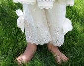 Cream  Eyelet Bloomers Pantaloons