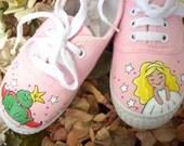 Handpainted Children's Canvas Shoes - Custom order