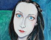 Emily - Original Watercolour Portrait Painting