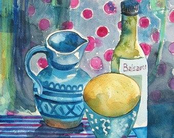 Little Blue Jug - Original Watercolour Painting