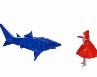 Hello Mr Shark - contemporary fine art giclee modern illustration print