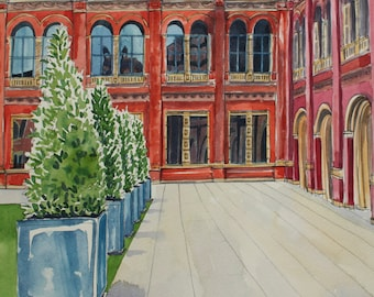 V & A Courtyard - Original Watercolour Painting