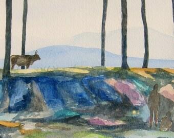 The Dream - Original Watercolour Painting