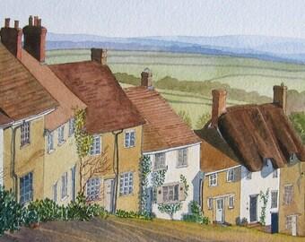 Gold Hill - Original Watercolour landscape Painting