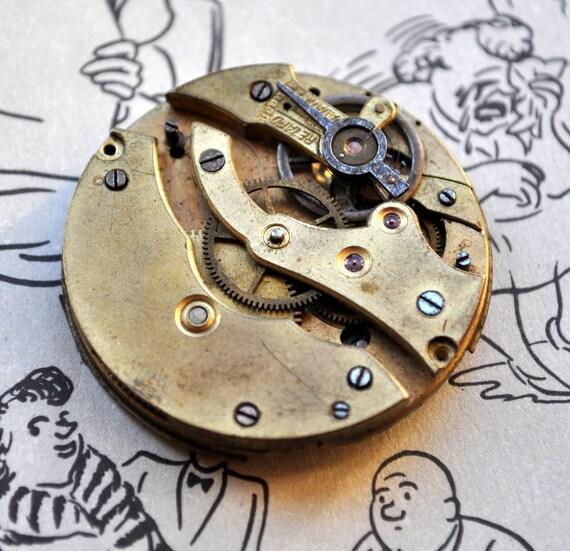 Antique pocket watch movement.