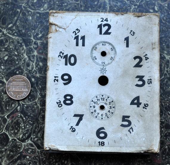Antique cardboard alarm clock dial,face.Junghans.