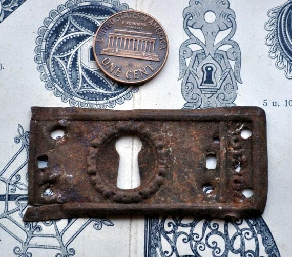 Vintage key hole plate,escutcheon.