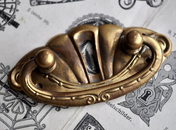 Vintage brass key hole plate,escutcheon.
