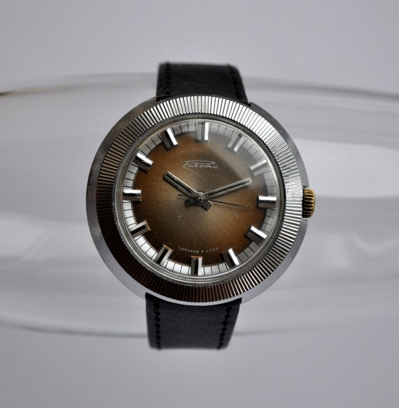 "Vintage Soviet mechanical  wristwatch ""Raketa""."