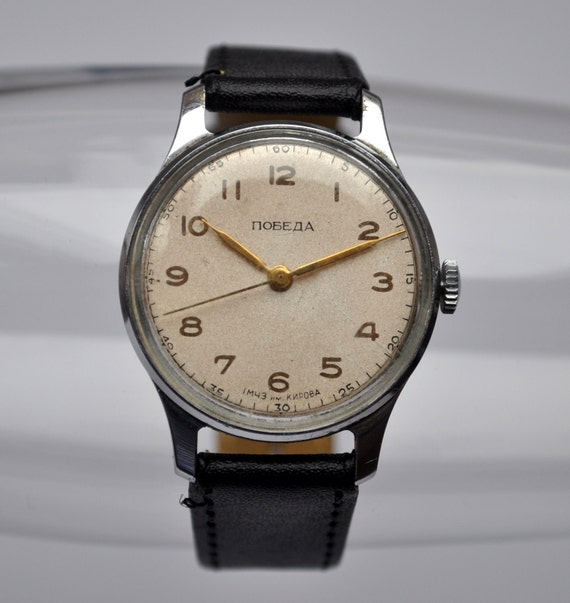 "Rare Vintage Soviet mechanical  wristwatch ""Pobeda"".First Moscow Watch Factory."