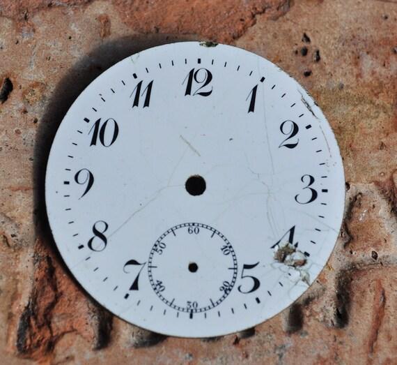 Antique pocket watch face,dial.