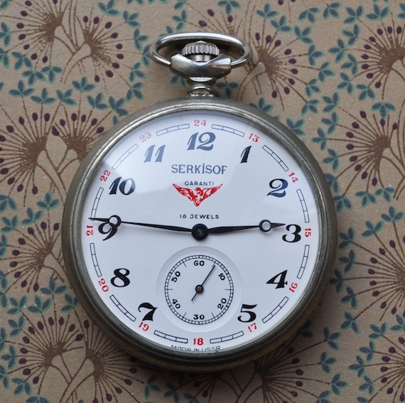 "Rare Vintage Mechanical Pocket Watch ""SERKISOF-MOLNIJA"""