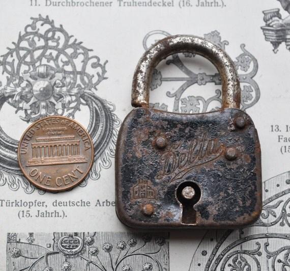 Vintage small metal lock.