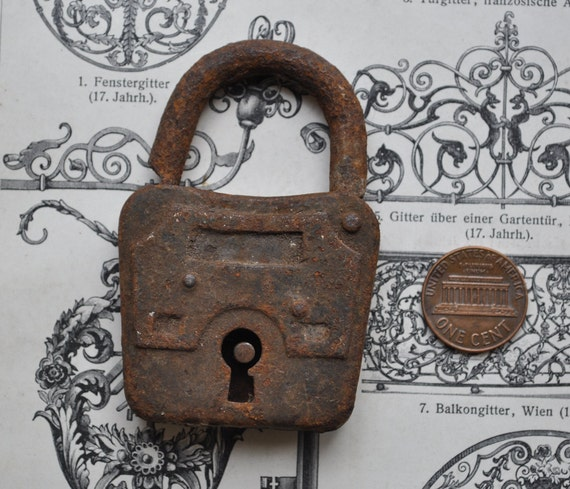 Vintage small metal lock.