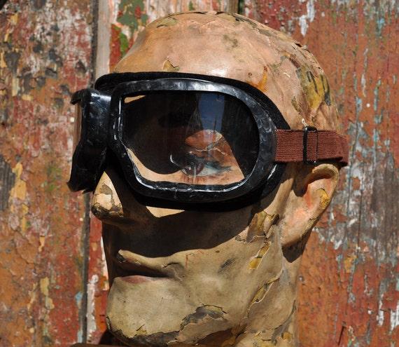 Vintage Soviet industrial Goggles,glasses.