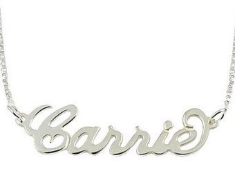 Personalized Name Necklace 925 Sterling Silver - Carrie Style Choose Any Name