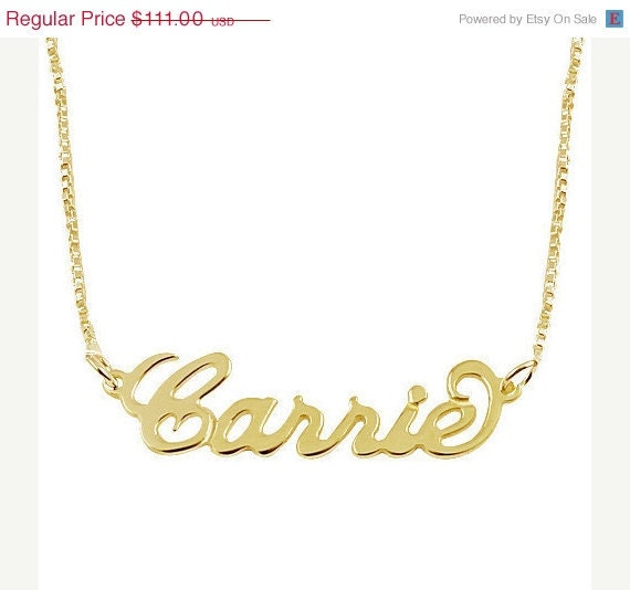 personalized necklace 14k gold name necklace by