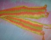 Tie Dye Scarf Avacado, Yelloe and Orange