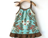 Baby Sundress - Size 6 Month in Beautiful Woodland Print